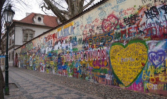 john lennon wall in prague