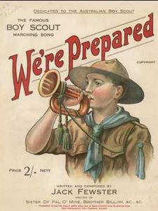 be prepared like a boy scout