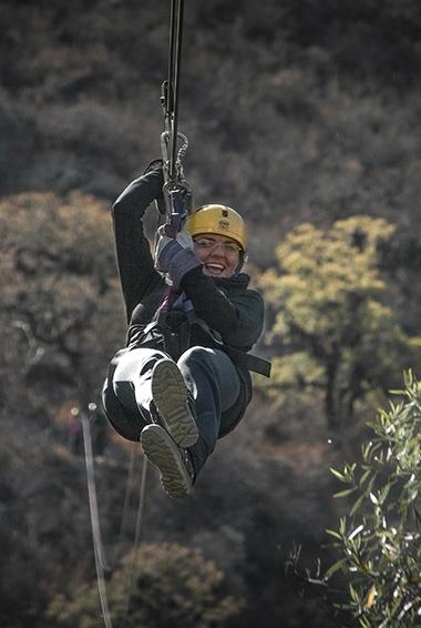 Ziplinging in Queenstown, New Zealand
