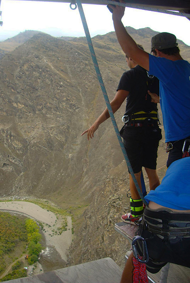 The famous Nevis bungy jump in Queenstown, New Zealand