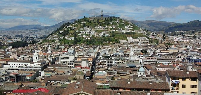 Overview of hill in Quito