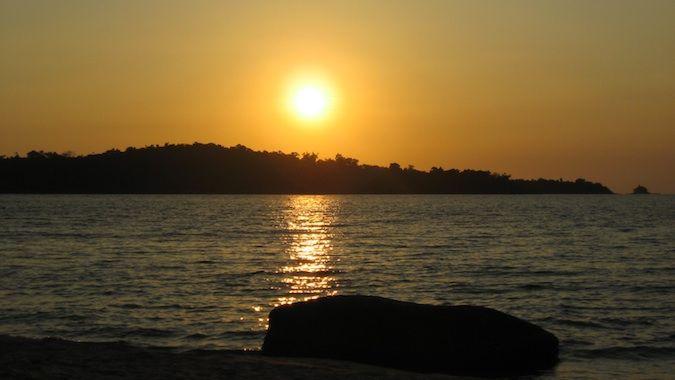 sunset in Sihanoukville, Cambodia