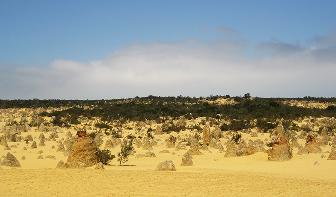 A dusty and remote Australia landscape