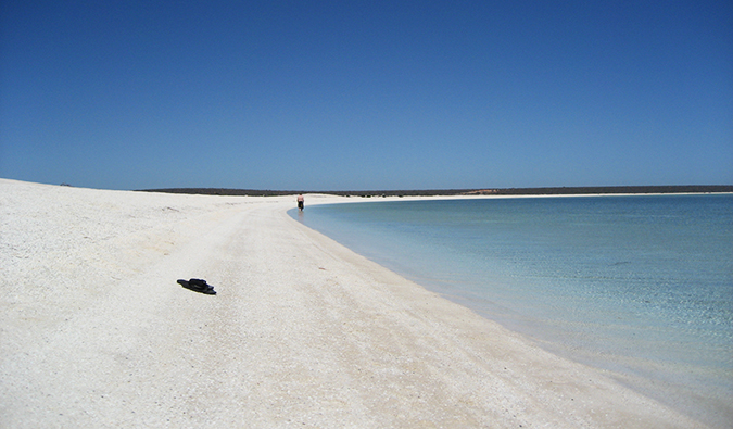 A empty white sand beach in Australia