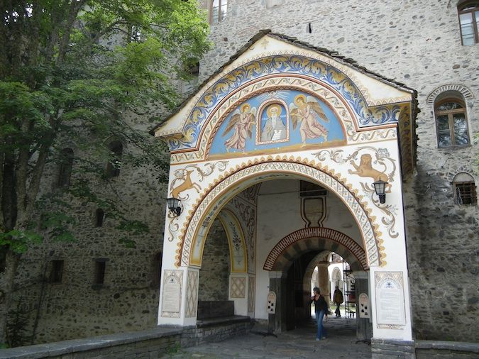 The entrance into the Rila Monastery