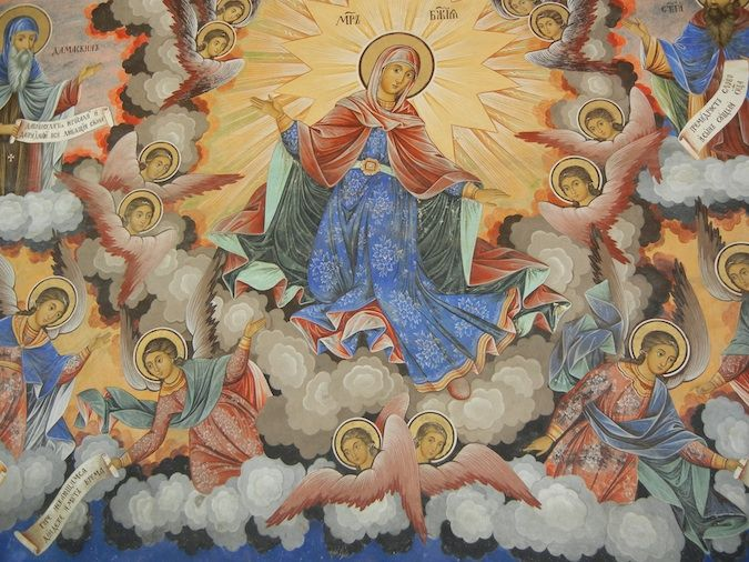 Some of the best religious art I've seen covering the Rila Monastery