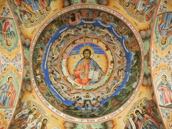 More of the best religious art I've seen covering the Rila Monastery
