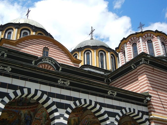 Another view of the church at the Rila Monastery