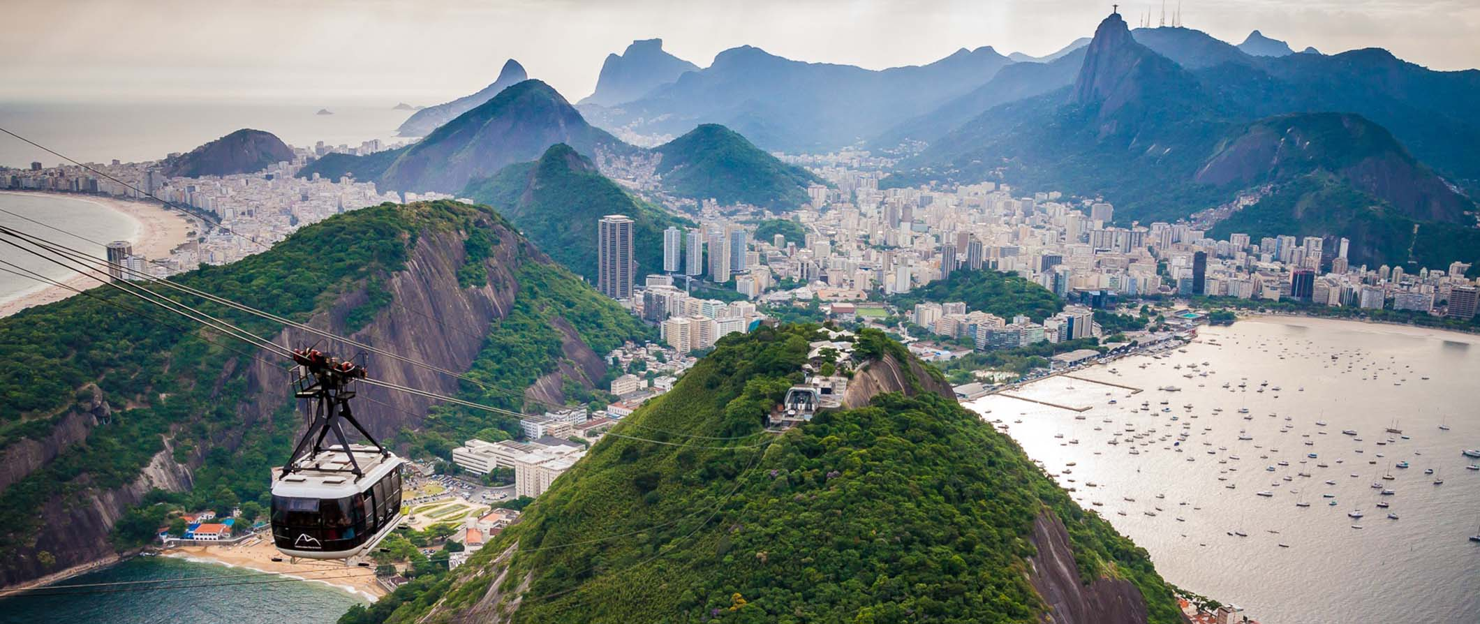 a view of rio de janeiro from sugarloaf mountain