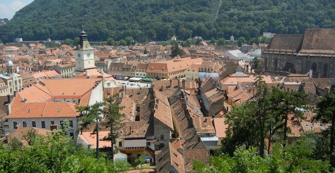 the old town of brasov, romania
