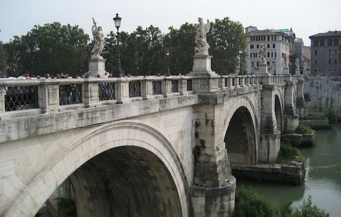 a bridge over the river tiber
