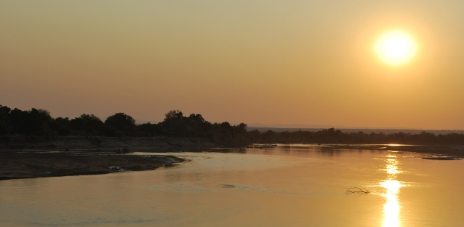 A stunning sunset over South Luwangwa National Park, Zambia