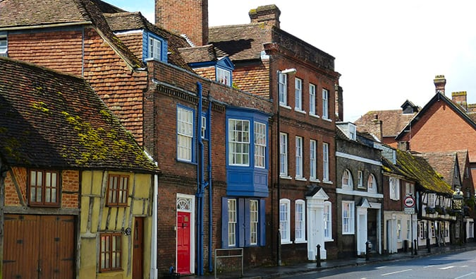 Houses in a row in Salisbury