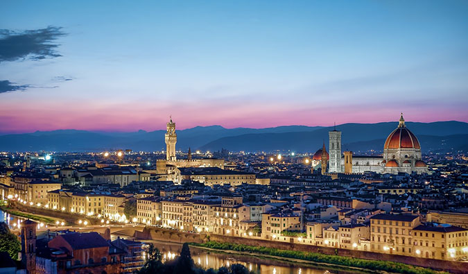 florence at sundown