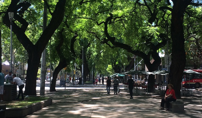 the streets of mendoza, argentina