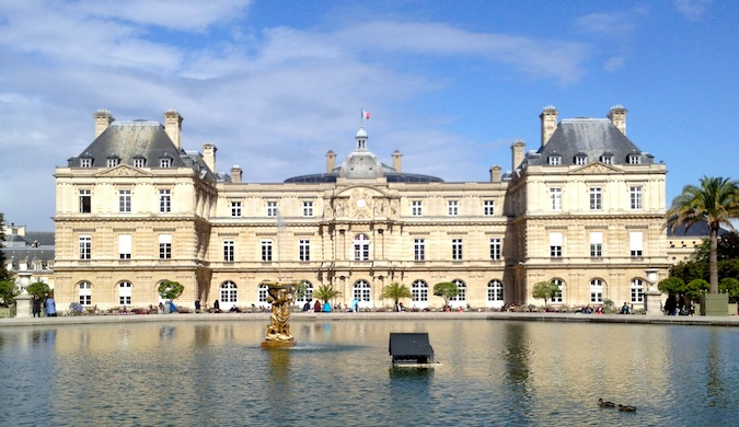 Beautiful landmark on a sunny day in Paris, France