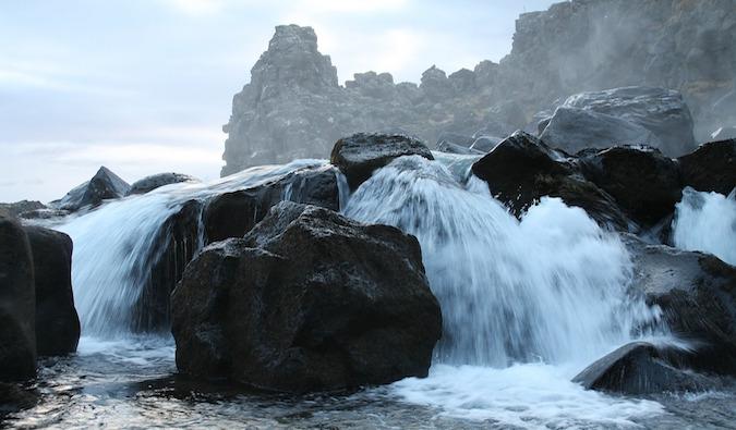 Waterfalls in Thingvellir National Park