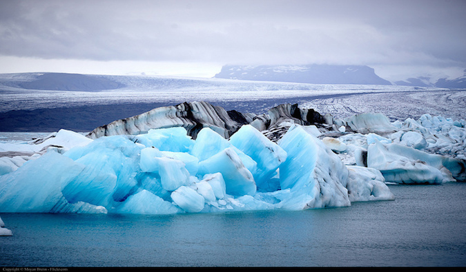 Icebergs in the Jökulsár Lagoon in Iceland