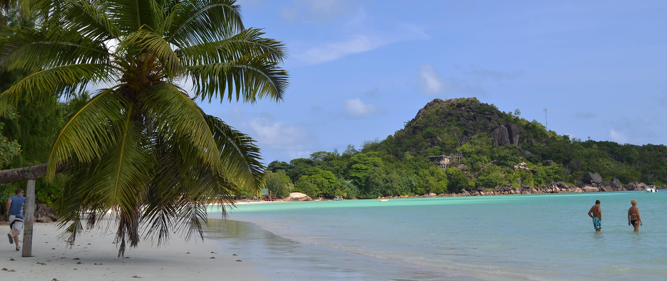 a tropical beach in Seychelles