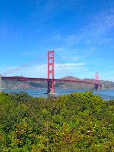 Golden Gate Bridge on a sunny day in San Francisco, California