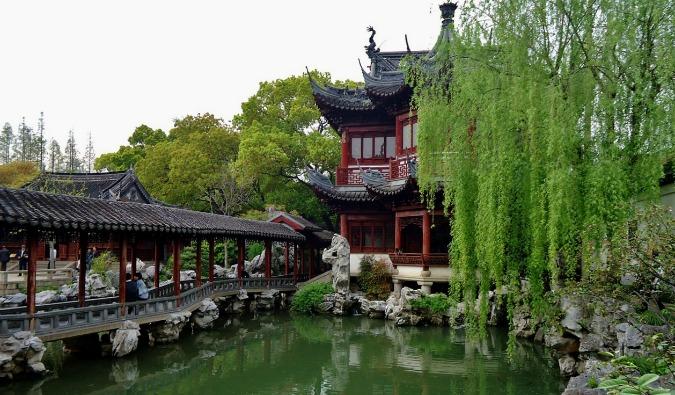 a garden in Shanghai