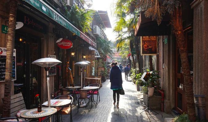 a street in Shanghai