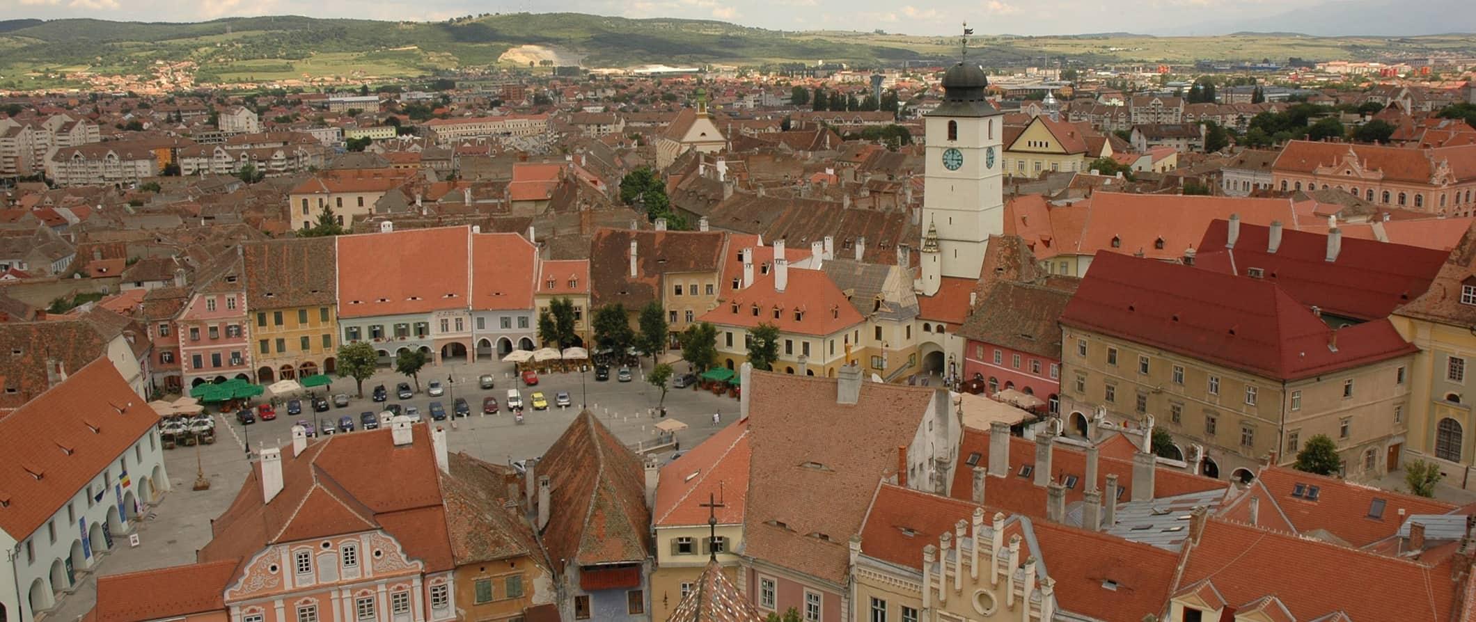 the Old Town in Sibiu