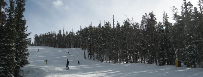 skiing in keystone resort in colorado