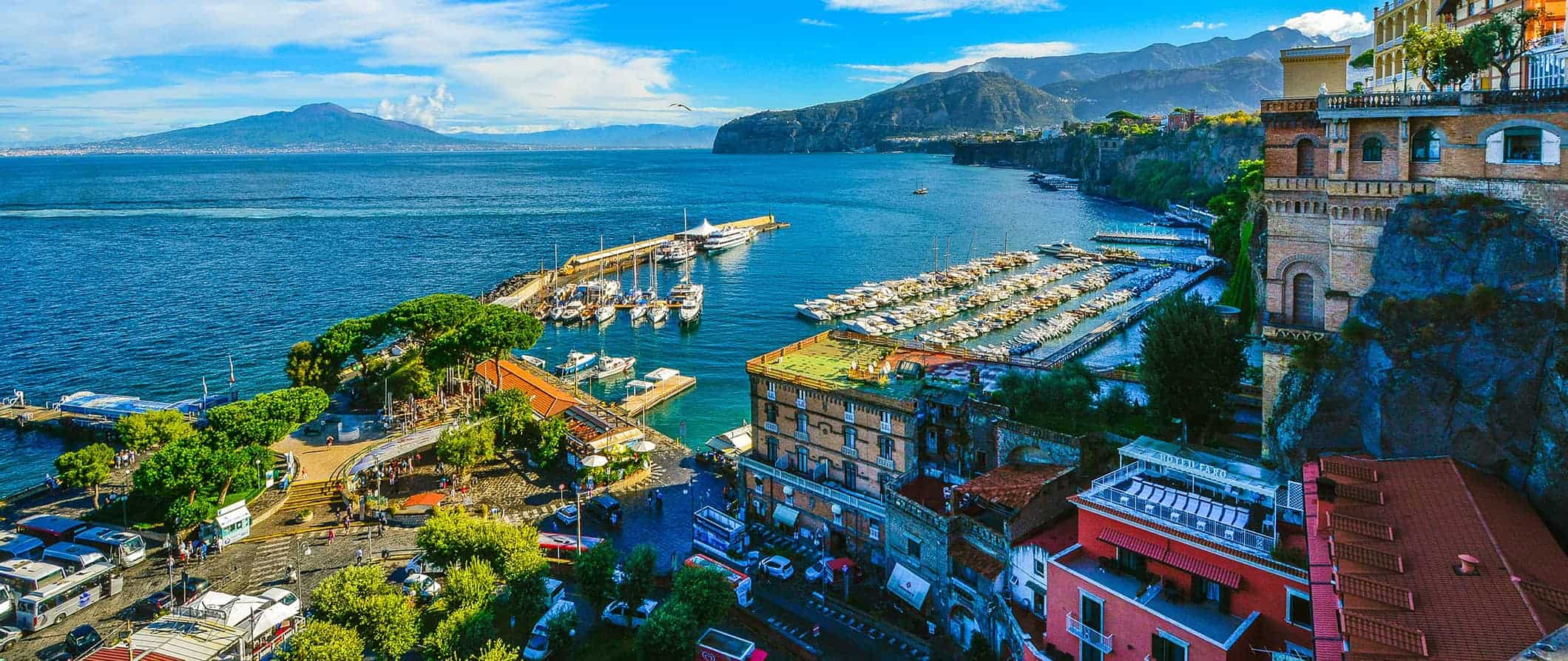sea views in Sorrento, Italy