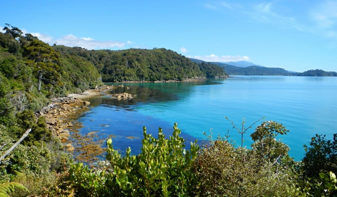 A view of Stewart Island in New Zealand