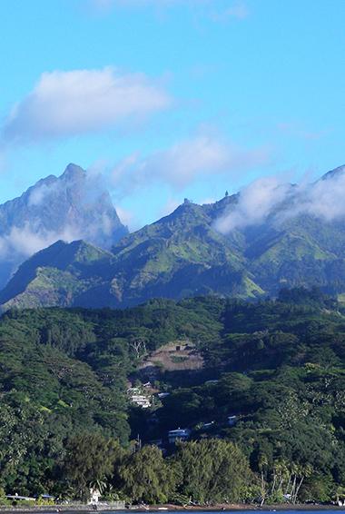 The lush, green landscapes of Tahiti