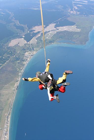 Skydiving at Lake Taupo in New Zealand