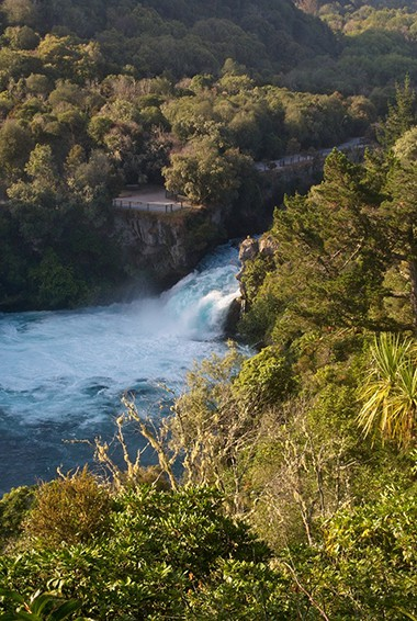 Huka Falls in Taupo, New Zealand
