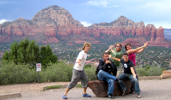 With friends in Sedona, AZ while on a road trip