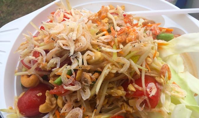 Spicy Thai food delicious