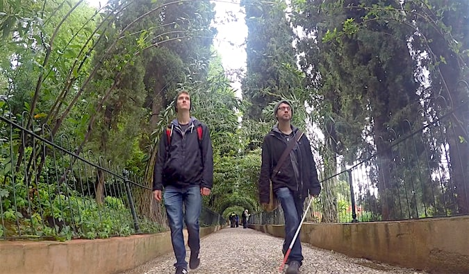Tyler and Dan, two young male friends traveling together