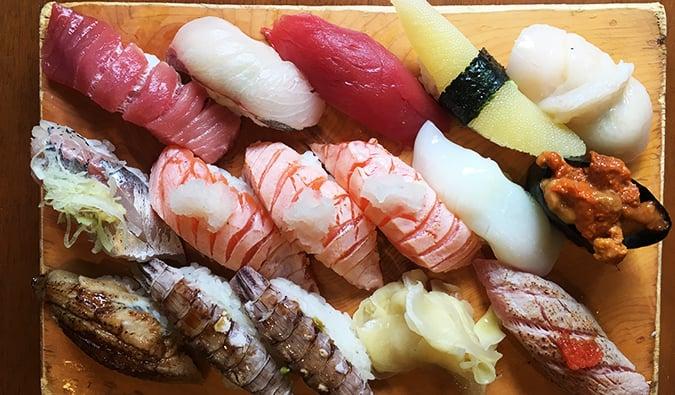 sushi in Tokyo, Japan