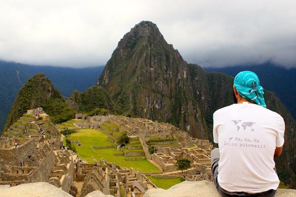 Tomislav enjoying the view over Machu Piccu, Peru