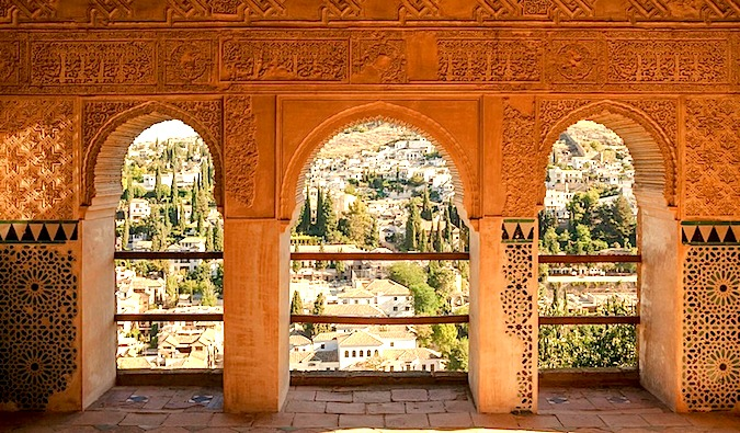 The Alhambra in Granada - moorish architechture