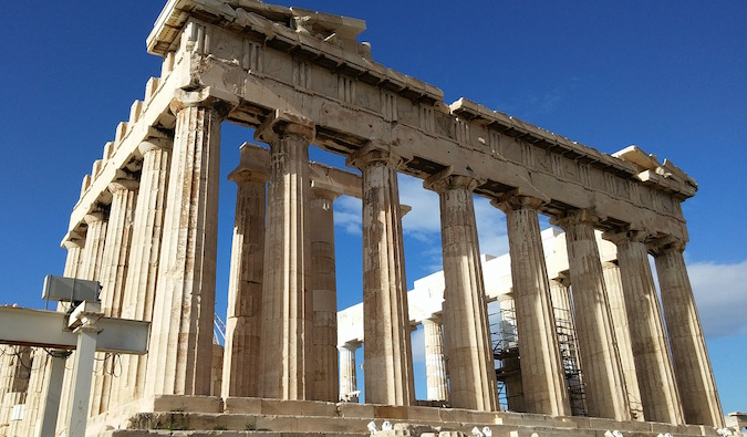 Parthenon in Athens, Greece, ruins and temples, Greek civilization, 5th century BC