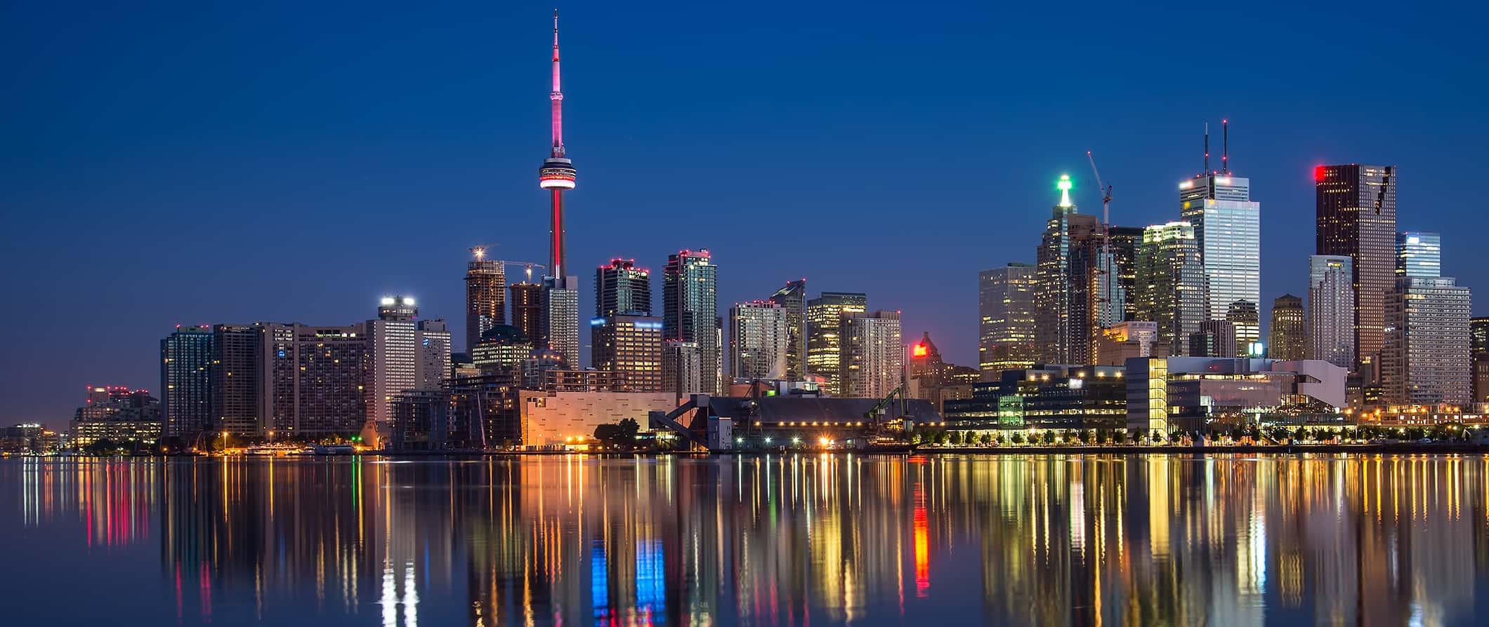 Toronto skyline with reflection