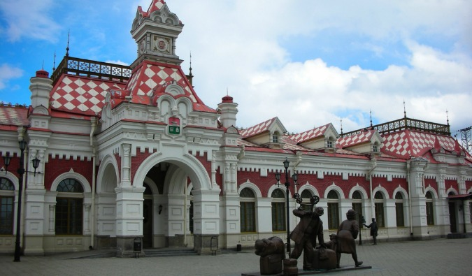 Yekaterinburg on the trans-siberian railway