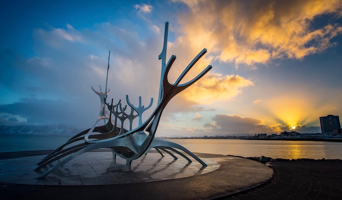 photographing in Reykjavik