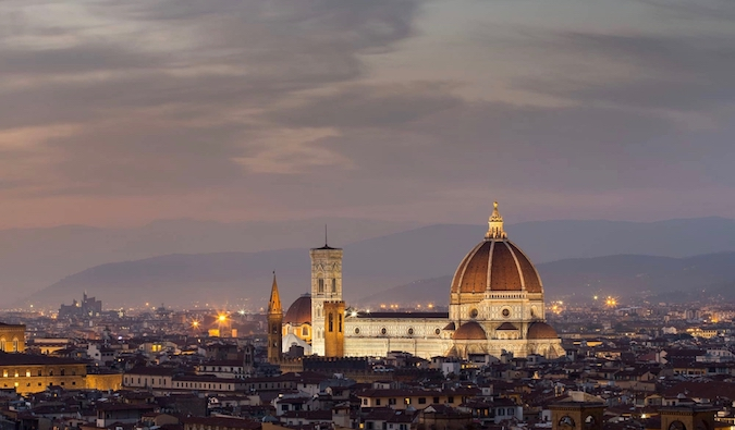 A nighttime picture of Florence