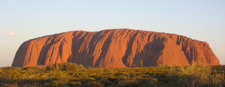 Uluru (Ayer's Rock) during sunset in Australia