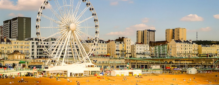 Take in the seaside town of Brighton while traveling in England