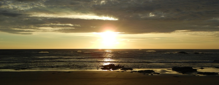 Sunset over the beach in Tamarindo, Costa Rica