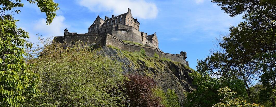Exploring the historic cobblestone and modern streets of Edinburgh, Scotland