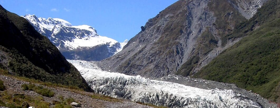 Exploring the franz josef glacier while traveling New Zealand