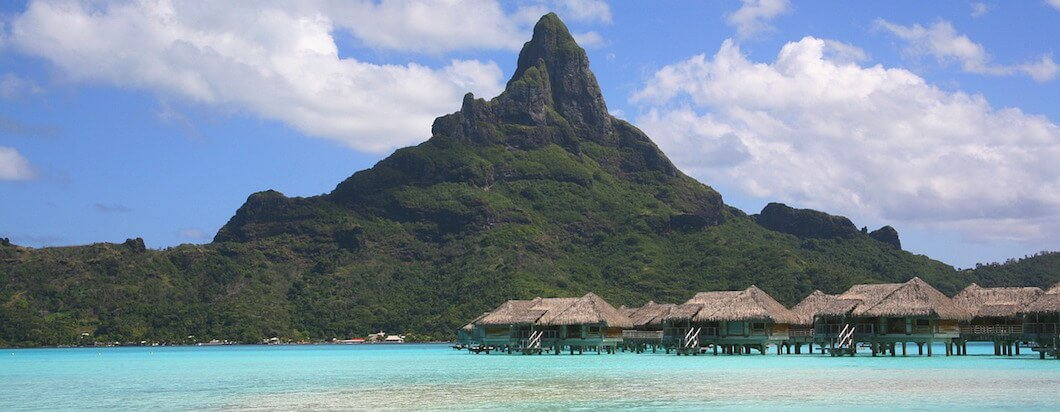Spending time in beautiful huts on the water in Tahiti